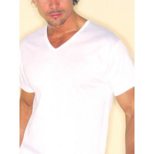 T-shirt M/M scollo V bianca Garda 0046