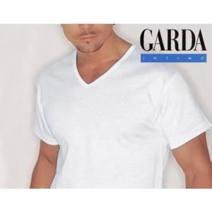 T-shirt M/M scollo V nera Garda 0046